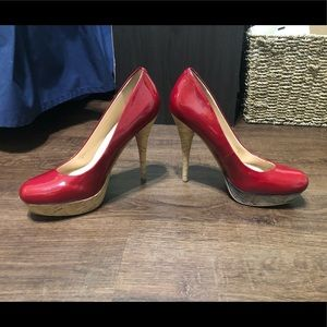 Guess Red High Heeled Pumps Dress Shoes Sz 8M